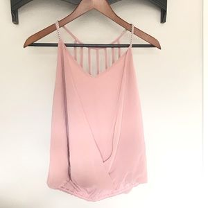 Blush pink tank blouse